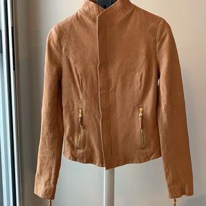 Haute Hoodie - Beautiful tan leather jacket